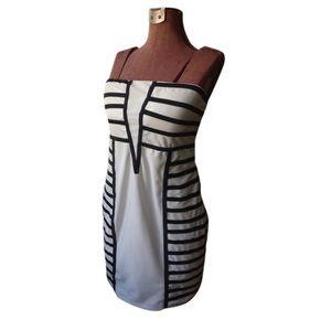 Black & White Tube Top Dress